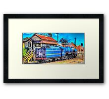 R711 steams in Bendigo Framed Print