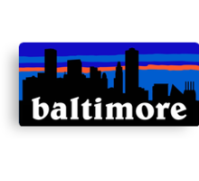 Baltimore, skyline silhouette Canvas Print