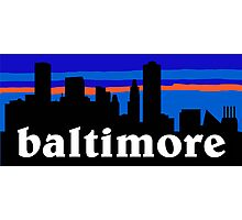Baltimore, skyline silhouette Photographic Print