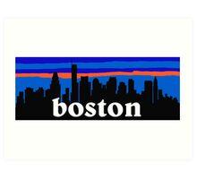 Boston, skyline silhouette Art Print
