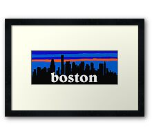 Boston, skyline silhouette Framed Print