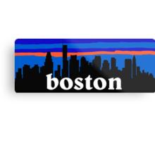 Boston, skyline silhouette Metal Print