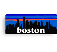 Boston, skyline silhouette Canvas Print