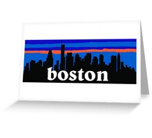 Boston, skyline silhouette Greeting Card