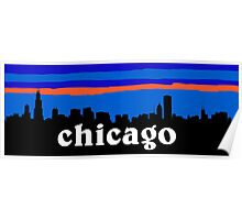 Chicago, skyline silhouette Poster