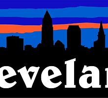 Cleveland, skyline silhouette. by mustbtheweather