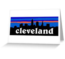 Cleveland, skyline silhouette. Greeting Card