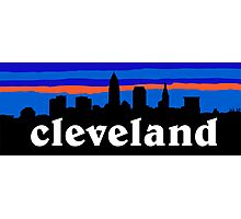 Cleveland, skyline silhouette. Photographic Print
