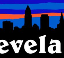 Cleveland, skyline silhouette. Sticker