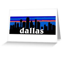 Dallas, skyline silhouette Greeting Card