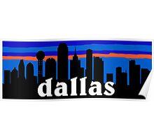 Dallas, skyline silhouette Poster