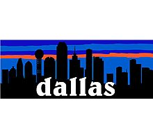 Dallas, skyline silhouette Photographic Print