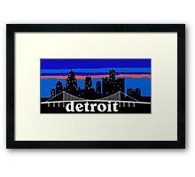 Detroit, skyline silhouette Framed Print