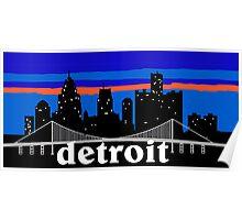 Detroit, skyline silhouette Poster