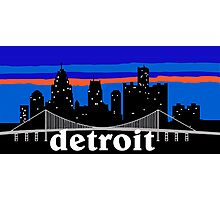 Detroit, skyline silhouette Photographic Print