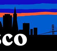 Frisco, skyline silhouette by mustbtheweather
