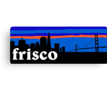 Frisco, skyline silhouette Canvas Print
