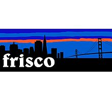Frisco, skyline silhouette Photographic Print