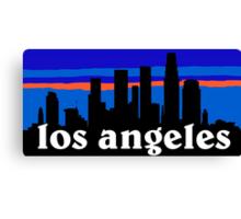 Los Angeles, skyline silhouette Canvas Print