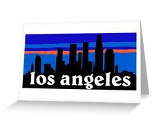 Los Angeles, skyline silhouette Greeting Card