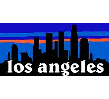 Los Angeles, skyline silhouette Photographic Print
