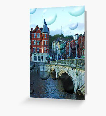 Magic Cork city, Ireland Greeting Card
