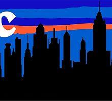 NYC, skyline silhouette by mustbtheweather