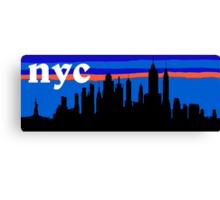 NYC, skyline silhouette Canvas Print