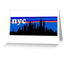 NYC, skyline silhouette Greeting Card