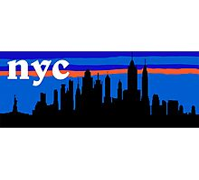 NYC, skyline silhouette Photographic Print