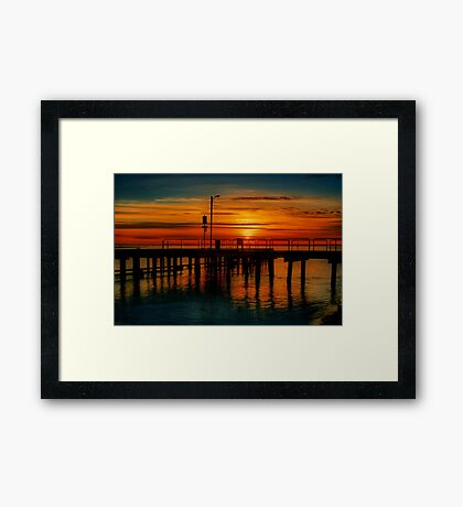 """Sunrise at the Heads"" Framed Print"
