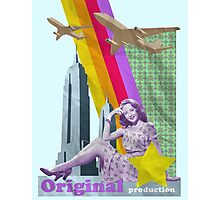 Retro girl Photographic Print