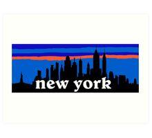 New york, skyline silhouette Art Print
