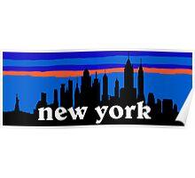New york, skyline silhouette Poster