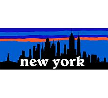 New york, skyline silhouette Photographic Print
