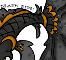Black Fish Crafts logo Sticker