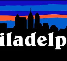 Philadelphia, skyline silhouette by mustbtheweather