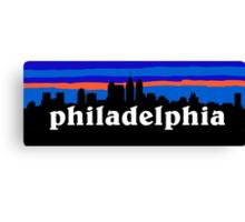 Philadelphia, skyline silhouette Canvas Print