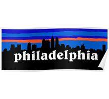 Philadelphia, skyline silhouette Poster
