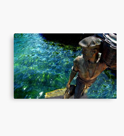 Fisherman Fremantle Fishing Harbour Canvas Print