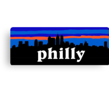 Philly, skyline silhouette Canvas Print
