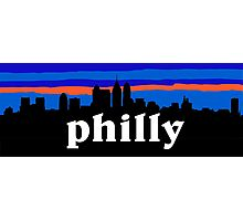 Philly, skyline silhouette Photographic Print