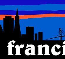 San Francisco, skyline silhouette by mustbtheweather