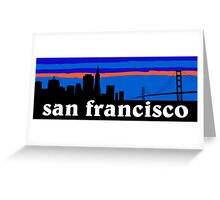 San Francisco, skyline silhouette Greeting Card