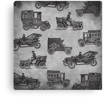 Collection of Vintage Cars Canvas Print