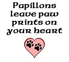 Papillons Leave Paw Prints On Your Heart by kwg2200