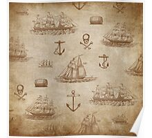 Vintage Expedition, A Collection of Ships Poster