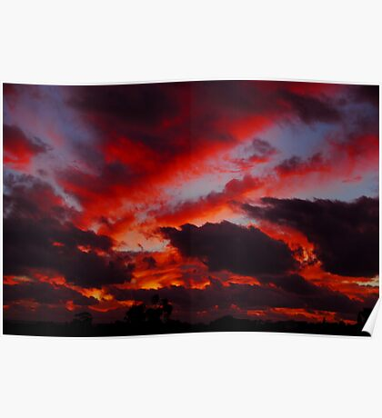 Perth sunset Poster