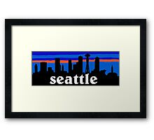 Seattle, skyline silhouette Framed Print