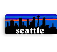 Seattle, skyline silhouette Canvas Print